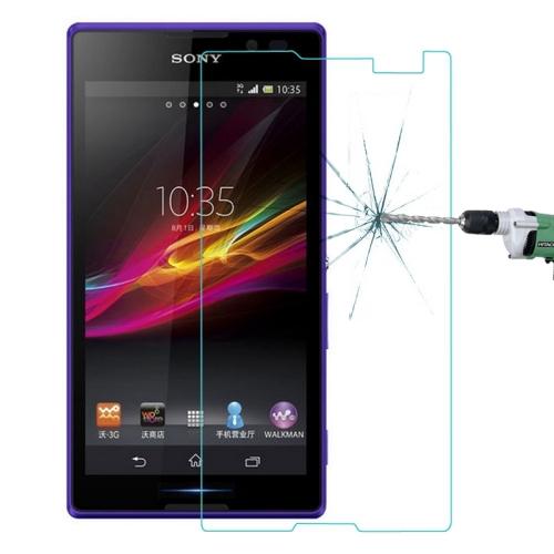 Топ 0.33 мм 9 H взрывозащищенный защитная пленка для Sony Xperia C S39h C2305 C2304 кривый границы 2.5D закаленное стекло Films
