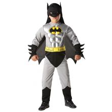Muscle Chest Dark knight Batman boy's superhero Halloween Party Costume 3pcs fantasia Carinval fancy dress for kids 4Sizes 3-12Y