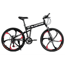 "24 Speeds CT Black Bicicleta 26"" Mountain Bike Folding Bicycle Bicicletas Mans Mountain Bike Disc Break(China (Mainland))"
