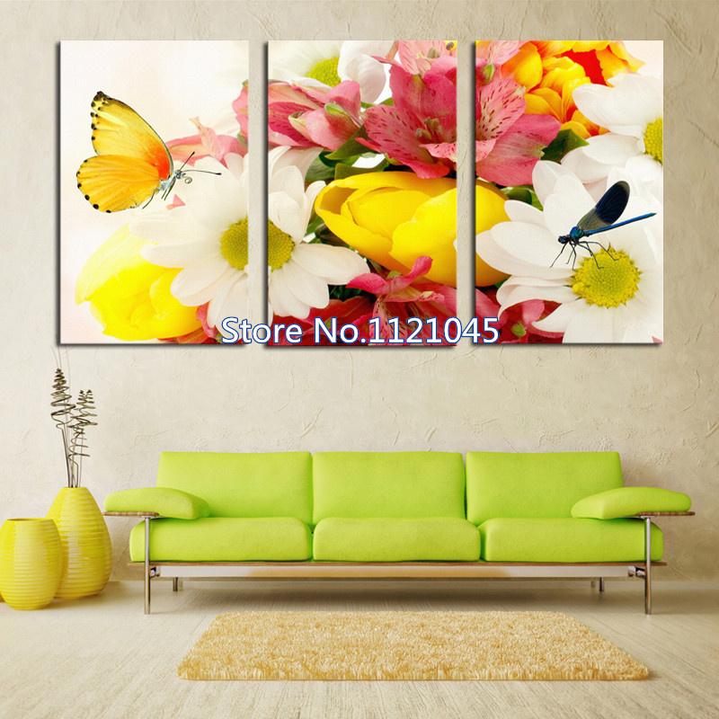 Здесь можно купить  5D DIY diamond painting Cross Stitch Flowers and butterflies Needlework diamond embroidery triptych For home decor NW120  Дом и Сад