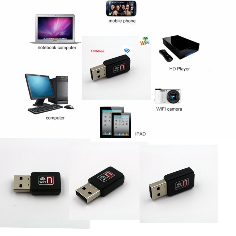150Mbps 150M Wireless USB WiFi Wi Fi Wi-Fi Adapter Wholesale Free shipping E00048(China (Mainland))