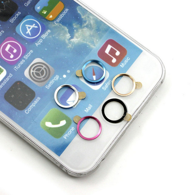 Practical Phone Home Button Touch Fingerprint ID Sensor Sticker For iPhone 6(China (Mainland))