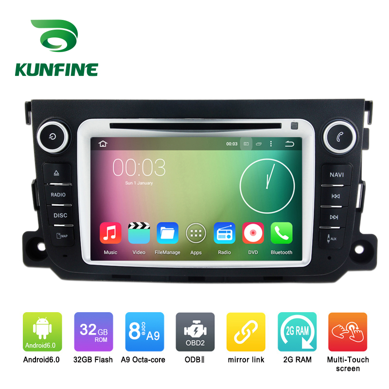 Octa Core 1024*600 Android 6.0 Car DVD GPS Navigation Multimedia Player Car Stereo for Benz Smart 2012-2013 Radio 3GWIFI