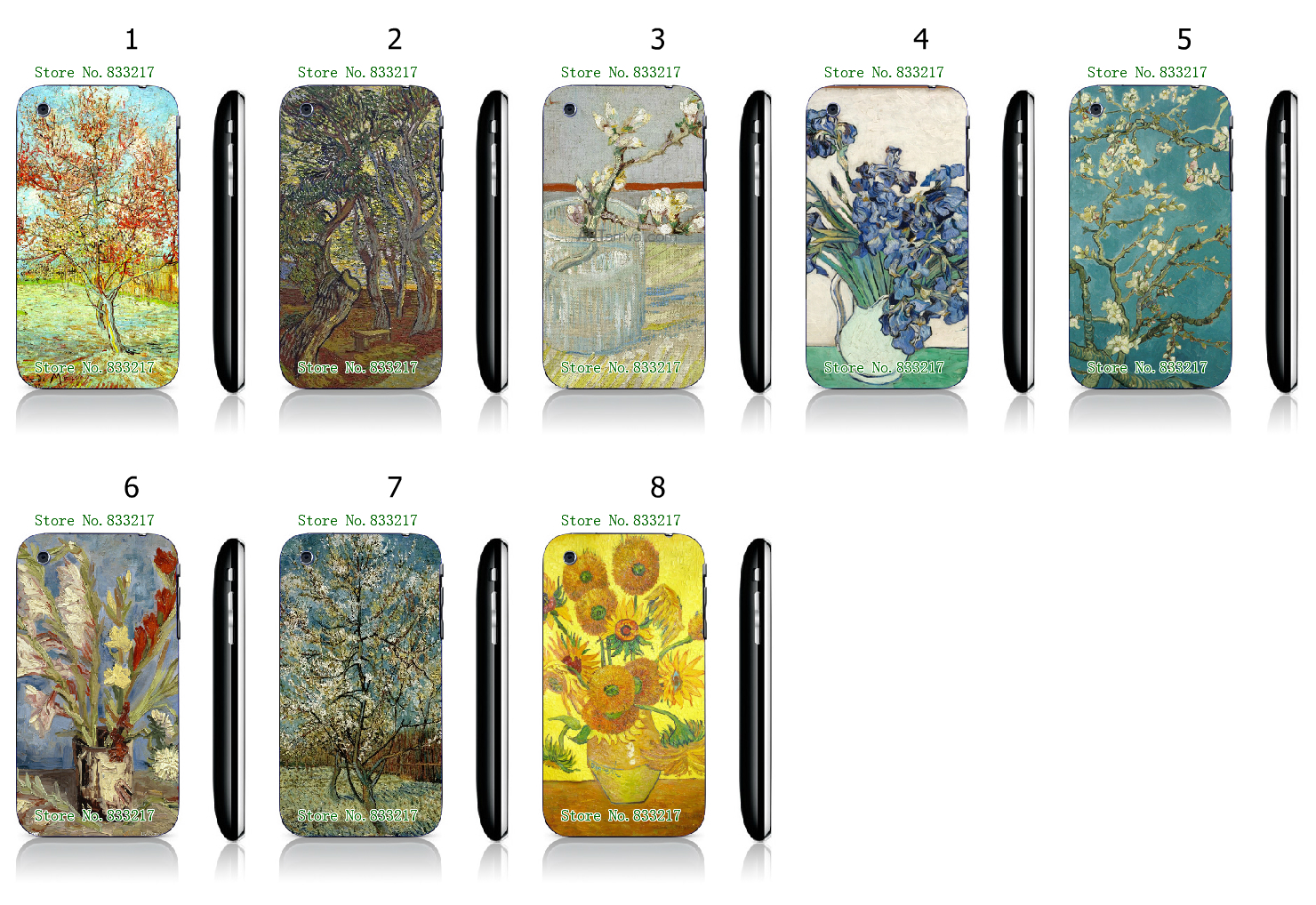 Cool Style Oil Painting White Hard Plastic Case Cover for iPhone 3 3GS(China (Mainland))