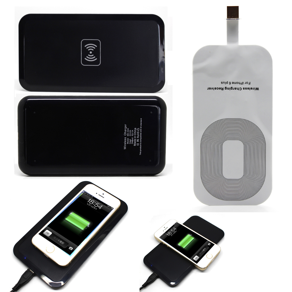 Qi Wireless Power Charger Charging Pad Mat Plate+ Receiver Kit Apple iPhone 6 plus - etopmall store
