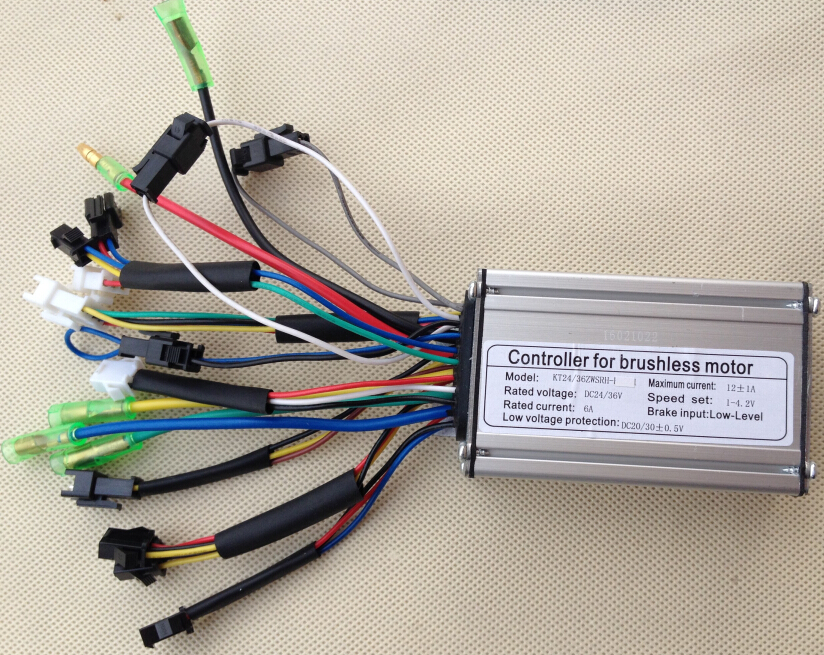 24v 36v 250w 12a Brushless Dc Square Wave Controller Ebike Electric Bicycle Hub Motor Controller