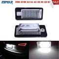 2016 1pair White Car Error 18 LED License Number Plate Light Lamp For Audi A3 S3