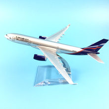 FREE SHIPPING AEROFLOT RUSSIAN AIRLINES AEROPLANE MODEL AIRBUS A330 AIRPLANE 16CM METAL ALLOY DIECAST 1:400 AIRPLANE MODEL TOYS(China)