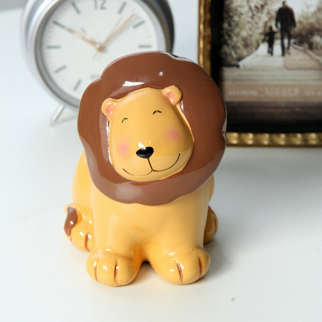 Creative Cute Cartoon Lion Resin Piggy Bank Money Boxes Piggy Coin Bank Crafts(China (Mainland))