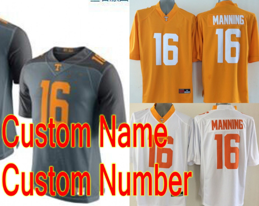 2015 New Style Tennessee Volunteers #16 Peyton Manning Jersey NCAA American College Football Jerseys Custom Any Name Number(China (Mainland))