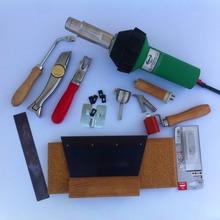 Superventas vinly piso soldador desmontar e instalar la herramienta kits con el más nuevo varilla de plástico paleta cuchillo pistola de aire caliente 1600 w