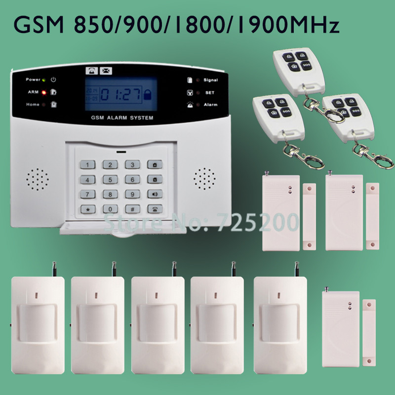Online buy wholesale wireless gsm alarm system sim card for Alarme gsm maison