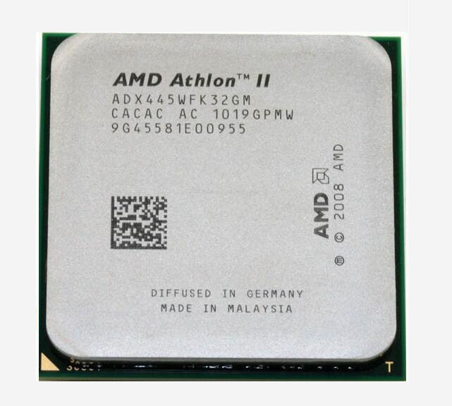 Free shipping.For AMD Athlon II X3 445 3.1 GHz Triple-Core Socket AM3 Desktop CPU quad-core processor(China (Mainland))
