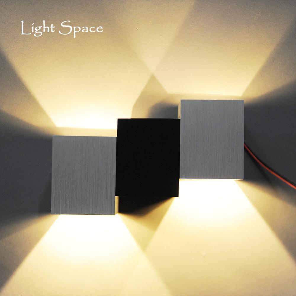 EU STYLE 6W Modern Led Wall Light Sconces lamp Cubic Body Ray Lighting Bulb Included, Mini Stylish LED luminaire - Black Hole Technology Co., LTD store