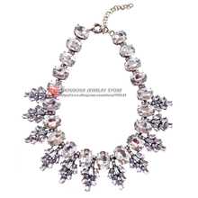 2016 New arrive fashion torques necklace J C Unique Europe costume choker chunky glass crystal Necklaces
