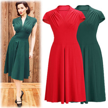 2016 Women Short Sleeve Slim Fashion Sexy Elegant Retro Vintage Tartan Patchwork Casual Summer Bodycon V-neck Vestidos Dress