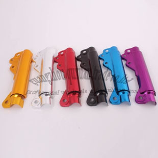 wholesale 1 set Front Fork Cover Shock Absorber Dust aluminum Cover For Motorcycle six color in Free Shipping(China (Mainland))