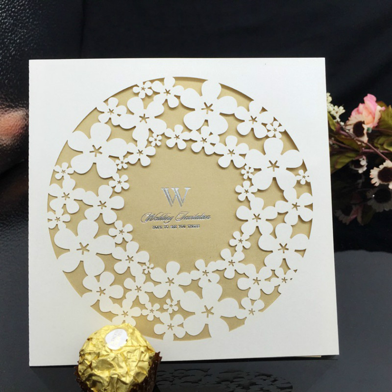 Wedding Supplies Decoration Laser Cut Wedding/Business/Party/Birthday Invitations 30Pcs/Lot 5ZJJ099(China (Mainland))
