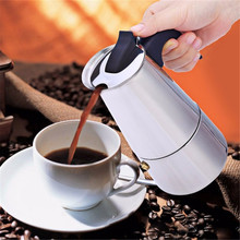 High Quality 2/4/6/9 Cups Coffee Maker Pot for Household Stainless Steel Moka Espresso Coffee Latte Percolator Stove Coffee Pots(China (Mainland))