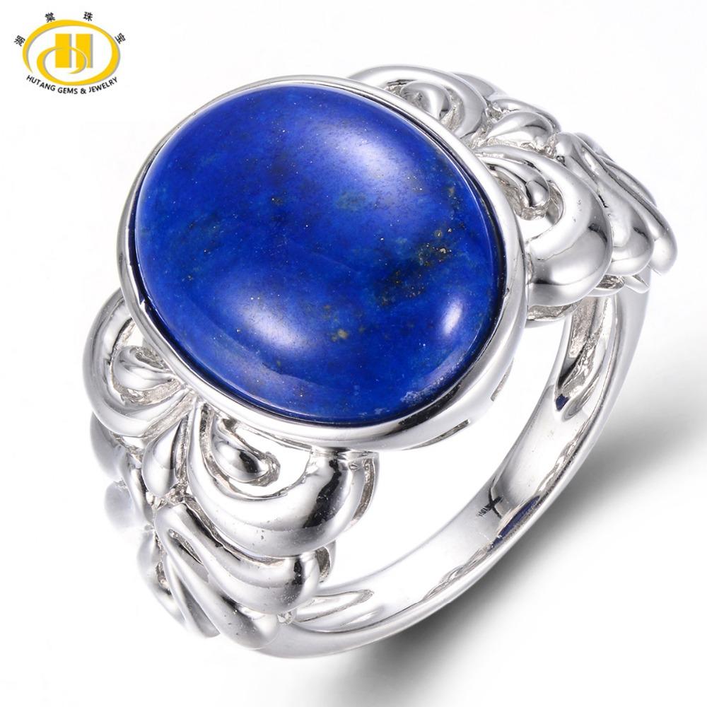 Hutang Natural Lapis Lazuli Solid 925 Sterling Silver ...