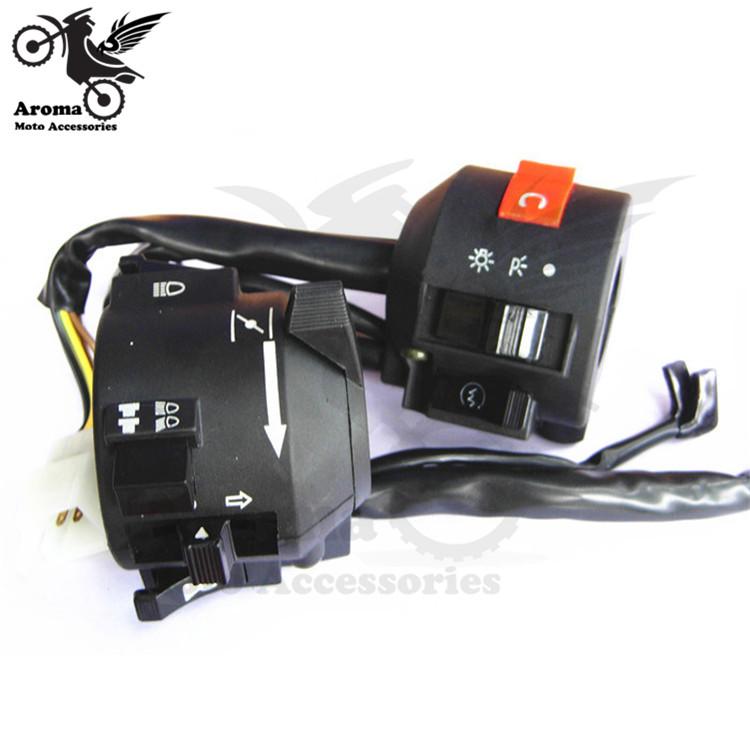 1 pair universal motocross handlebar switch for honda