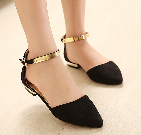 toe women flats ankle strap party wedding shoes black nude flat