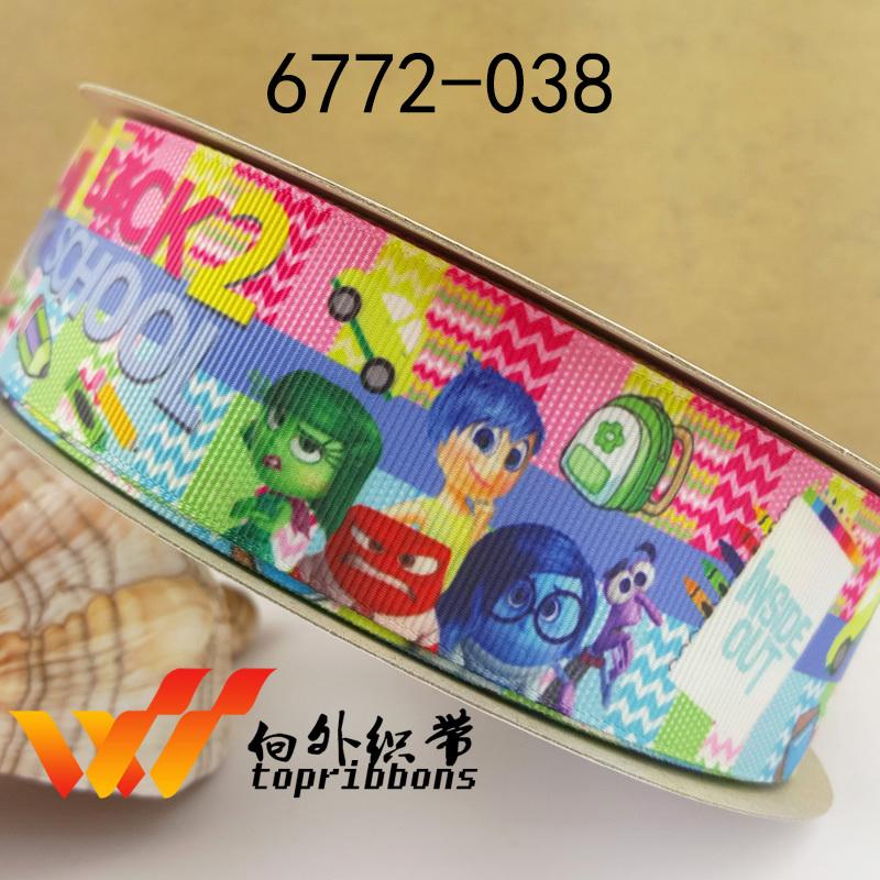 """Ribbon 50 yard ribbon 1.5"""" 38MM ribbon Halloween ribbon mermaid printed grosgrain ribbon 6772-038(China (Mainland))"""