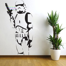 STAR WARS POSTER LARGE STORM TROOPER VINYL WALL STICKER WALL ART SILHOUETTE WALL DECAL BIG MURAL DECORATIVE WALL STICKERS
