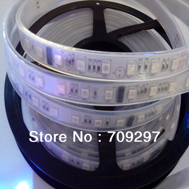 FREE DHL/FEDEX 50m/lot TM1812 IC 5050 digital RGB Strip,300LED IP67 tube waterproof dream magic color 12V LED Strip,60LED/m