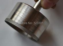 Envío de la alta calidad galvanizado diamante súper delgada agujero consideró 26 * 52 * 21 mm para procesamiento de jade pulsera tienda