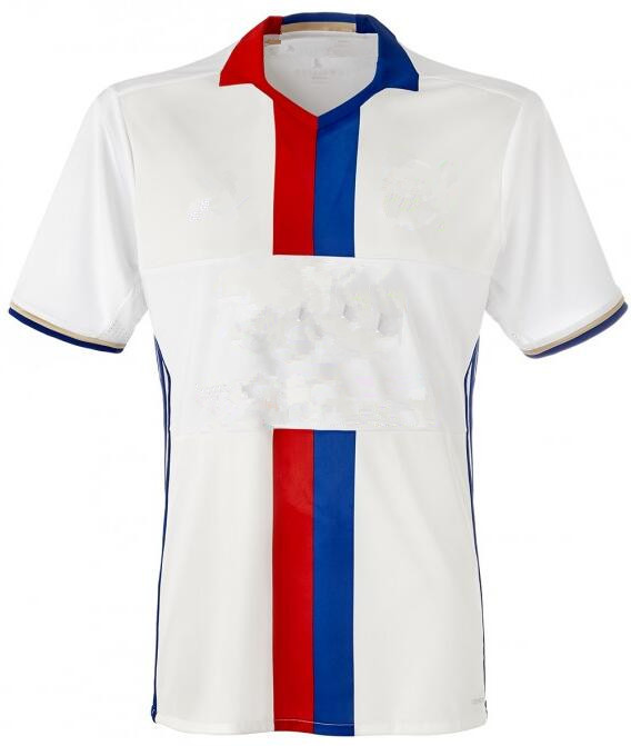 Olympique Lyon Soccer Jersey 2016 17 OL Custom print football Shirt free shipping Soccer Jersey(China (Mainland))