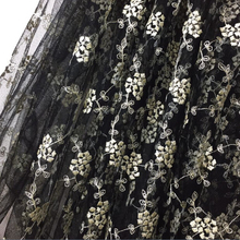 Buy Latest African Cord Lace 2016 French Net Lace Fabric Wedding Black Gold Thread Embroidery African Guipure Lace Fabric for $48.33 in AliExpress store