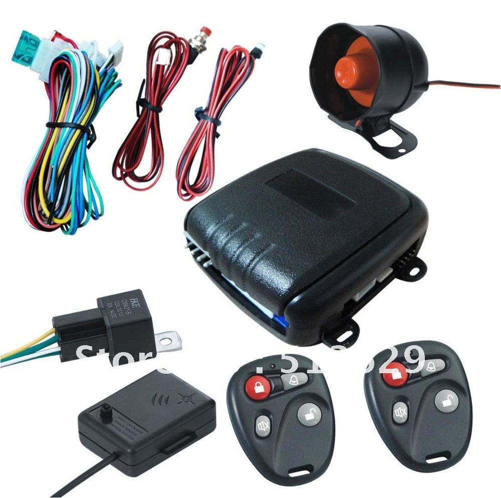 keyless entry car alarm security system 1 way car alarm