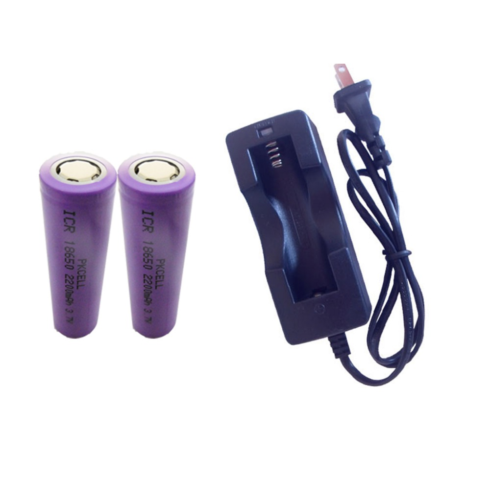 2200mAh Li-ion ICR18650 3.7V Rechargeable Battery in 2pcs Packed with Specified One Slot EU/US Plug Charger in 1Piece<br><br>Aliexpress