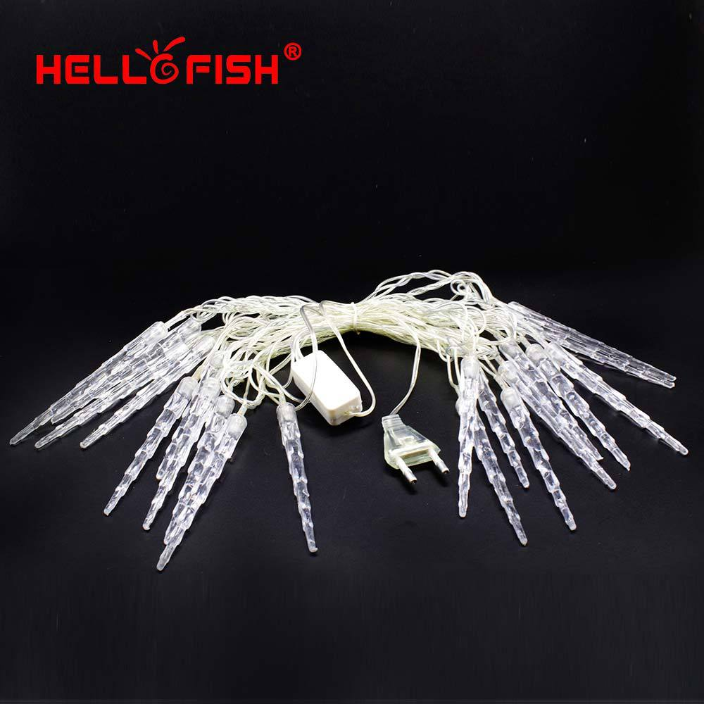 Hello Fish 2015 New Christmas Light AC110V-220V 4M 20 LED RGB Icicles String Light for Holiday Party Home Decoration(China (Mainland))