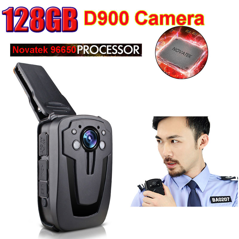 !New D900 Full HD 1080P Multi-functional Body Worn Police IR Night Vision 128GB Camera - Coshine Group Co., Ltd store