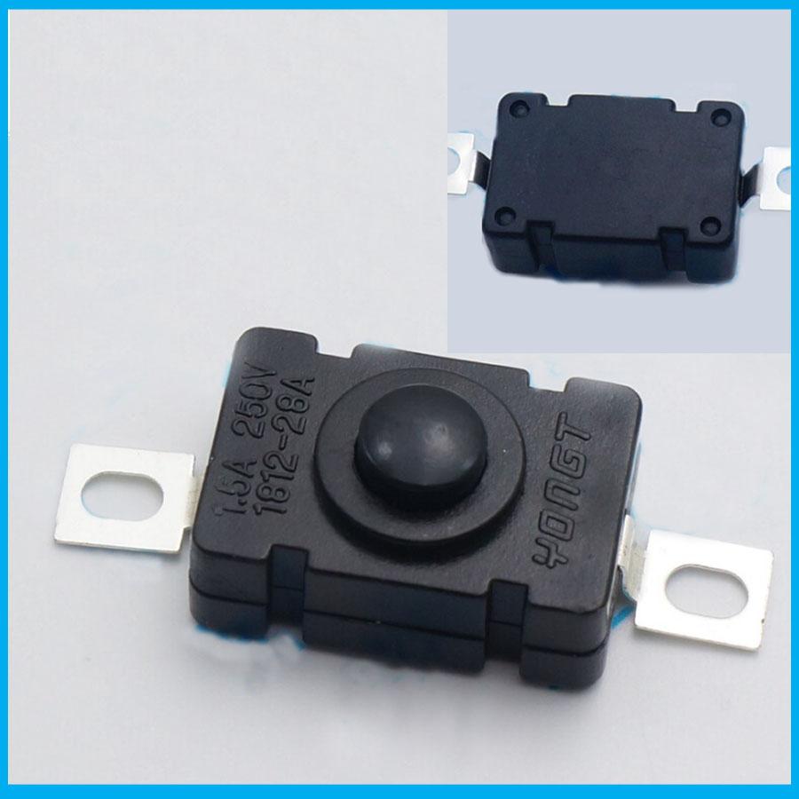 free shipping 1000pcs Touch Flashlight Self Lock SPST Push Button Switch AC/DC 250V 1.5A(China (Mainland))