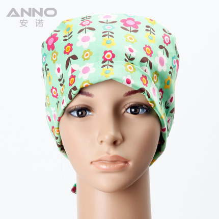 Medical doctor nurse nursing hat classic adjustable dome cap floral flowers printed cotton hospital angel working accessories(China (Mainland))