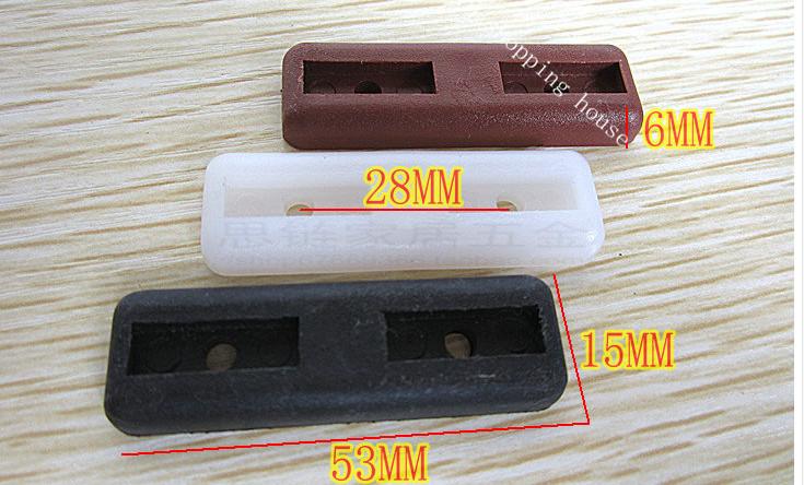 Furniture accessories Furniture plastic soft mat rectangular office furniture pad antiskid moisture foot(China (Mainland))