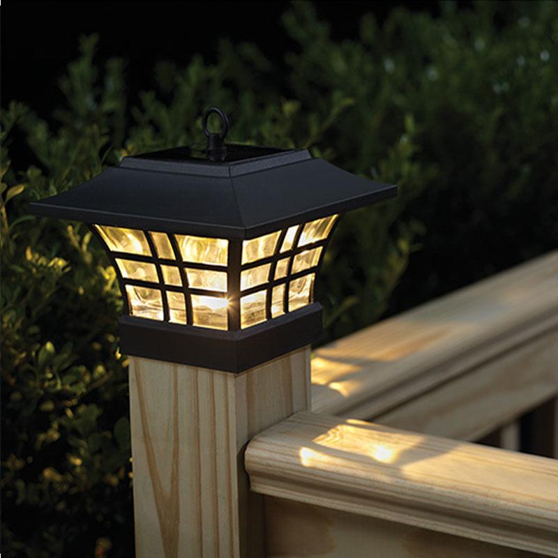 solar energy lamp outdoor garden wall lamp Landscape courtyard garden light household dual-purpose fence post Pillar lamp(China (Mainland))