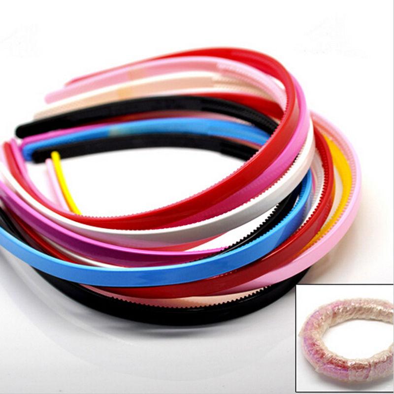 Cute hairbands Ladies/Girls/Kids Plastic Simple Style Hair Hoops Teeth candy color Headbands(China (Mainland))
