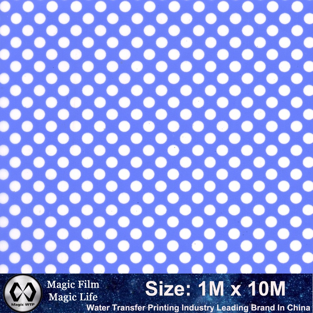 Leading Fashion Hydrographic Film Transfer Blue Dot NO. M-11714 Width 1M Length 10M Hydrographics Water Transfer Printing Film(China (Mainland))