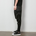 Gd male hip hop dj personality the trend of faux two piece trousers casual pants culottes