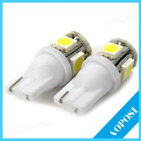 High Quality T10 5050 SMD Car LED Bulb auto light Side Wedge Bulb parking Lamp electronics for cars 1pair/2pieces