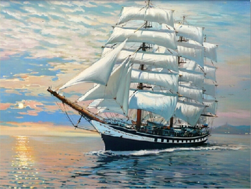 sailboat oil painting reviews online shopping sailboat