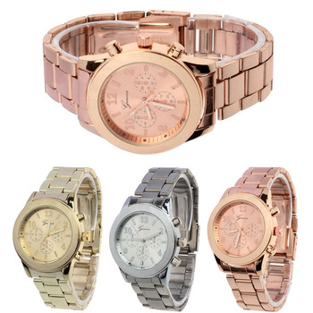 Gofuly New Geneva Gold Watch Ladies Women Girl Business Watch Luxury Brand Stainless Steel Quartz WristWatch Casual Watch Dress