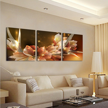 Canvas Unique Luminous Style Flower Modern Wall Painting Decor Home Decor Sofa Bedroom Pictures Oil Art Picture On Canvas Prints(China (Mainland))