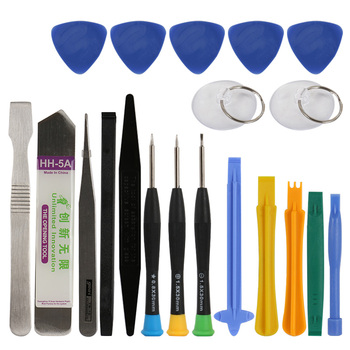 20 in 1 Mobile Phone Repair Tools Kit Spudger Pry Opening Tool Screwdriver Set for iPhone iPad Samsung