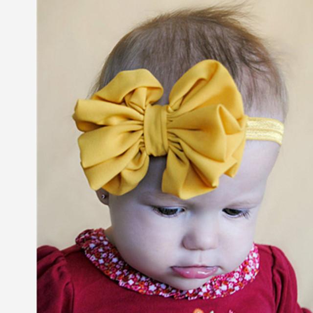 Горячее Надувательство Детские Девушки Большой Бант Бабочка Hairband Повязка Stretch ...
