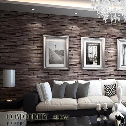 Comprar pvc madera piedra ladrillo wallpaper 3d papel de pared moderno de lujo - Panelado de paredes ...